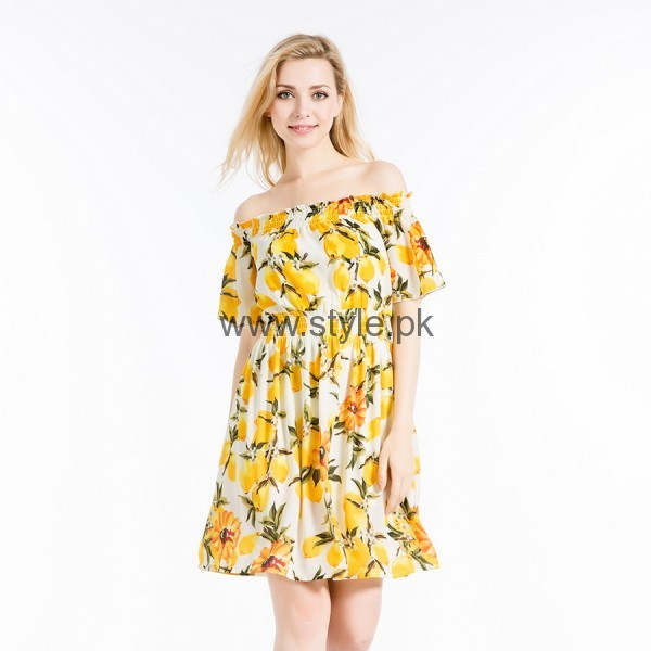 Latest Yellow summers tops for Women 2016 (13)