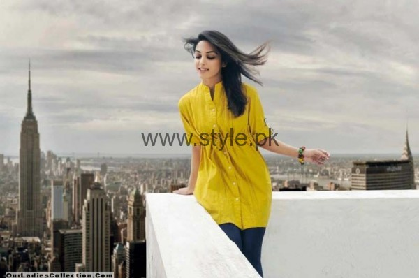Latest Yellow summers tops for Women 2016 (6)