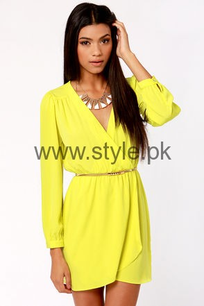 Latest Yellow summers tops for Women 2016 (8)