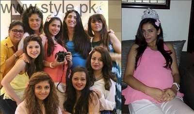 Pakistani Celebrities at their baby Shower (4)