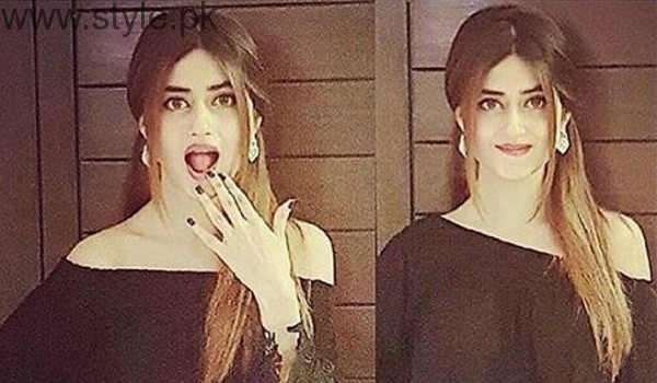 Sajal Ali Black Dress