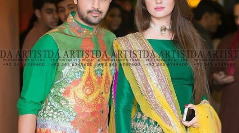 Recent Picture Of Atif Aslam With His Wife StylePk
