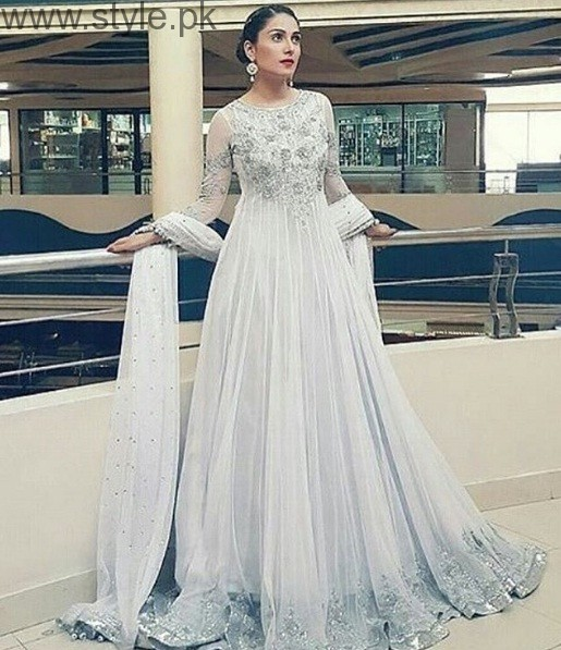 Ayeza Khan In White Gown