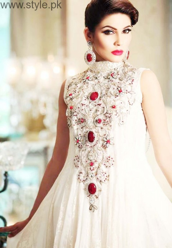 Latest Pakistani White party wear dresses 2016 (19)