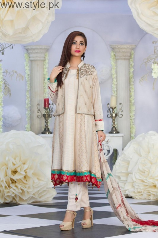 Latest Pakistani White party wear dresses 2016 (2)