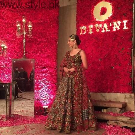 Mahira Khan and Ali Zafar walked on ramp for Divani Couture 2016 (4)