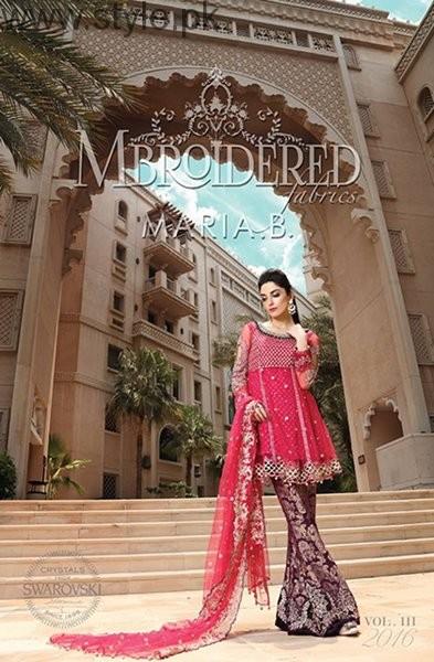 Maria B Mbroidered Eid Ul Azha Dresses 2016 For Women001