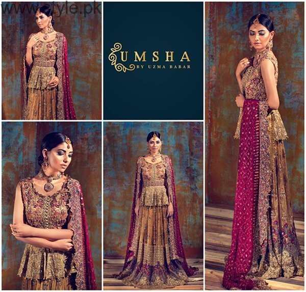 Umsha By Uzma Babar Bridal Dresses 2016 For Women