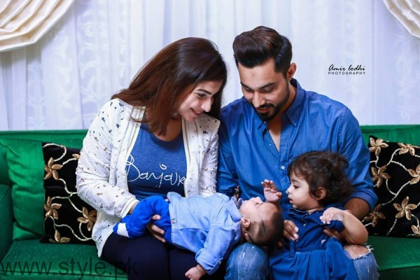 Dua Malik & Sohail Haider With New Born Baby Ali Haider and Daughter Ziyara