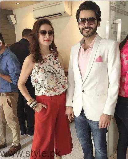 Fahad and Sarwat Gilani at Brunch Fashion Pakistan Week