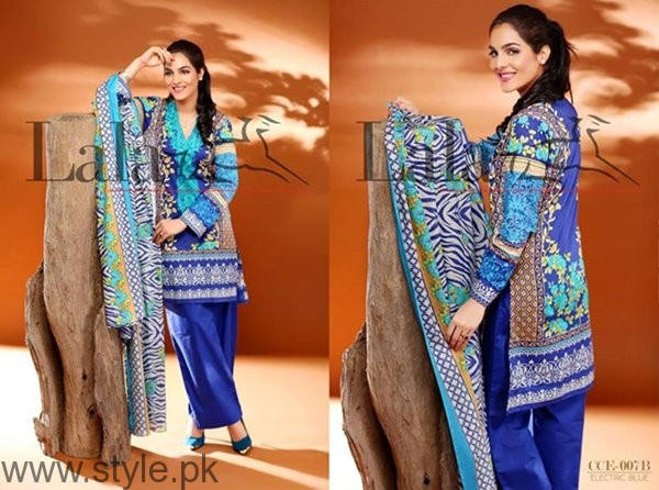 Lala Textiles Cotton Embroidered Dresses 2016 For Women003