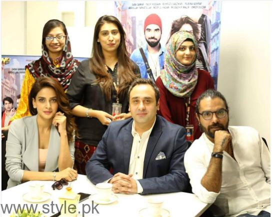 Saba Qamar during promotion of Lahore Se Agay (4)