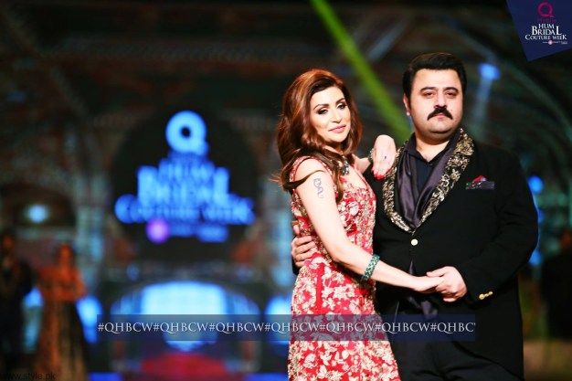 Ahmed Ali Butt and wife - Bridal Couture Week 2016 Day 3