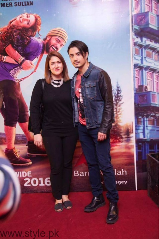 Ali Zafar and Wife at Lahore Se Aagey premiere