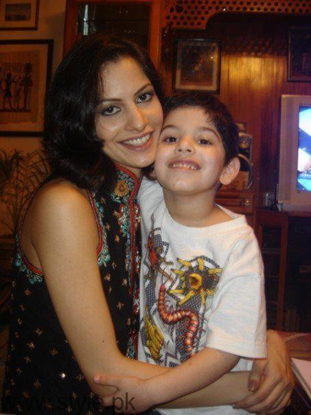 Beautiful Cybil Chaudhry With Son