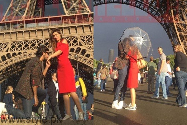 Its A Love Story Farhan Saeed Proposing Urwa Hocane In Paris