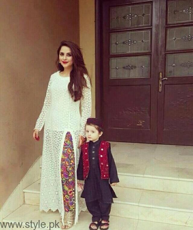 Fatima Effendi Beautiful Celebrity Mom with Son
