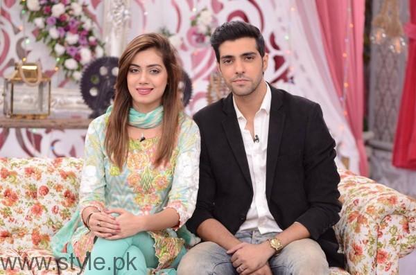 Furqan Qureshi with his Wife Sabrina in Good Morning Pakistan (9)