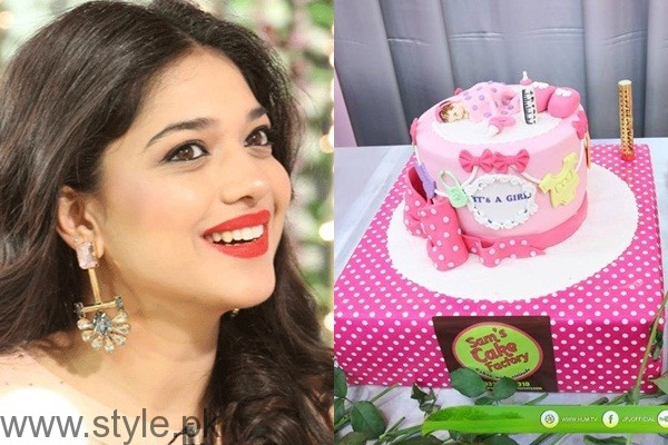 See HUM TV celebrated birth of Sanam Jung's baby girl