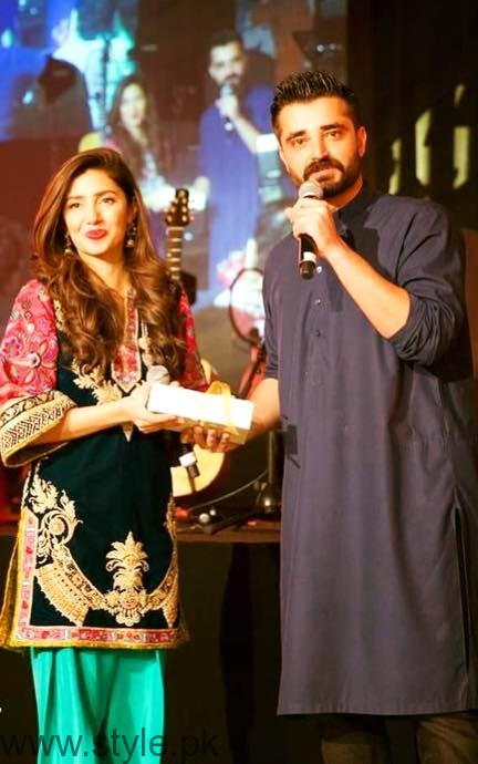 Hamza Ali Abbasi and Mahira Khan in Dubai for SKMCH
