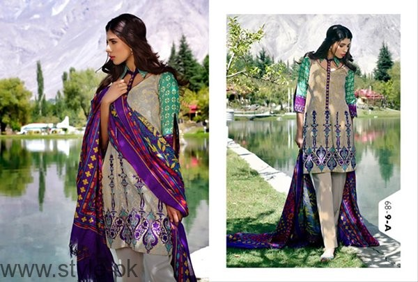 LSM Fabrics Winter Dresses 2016-2017 For Women002