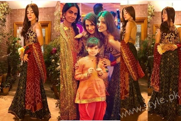 See Ayesha Omar at her Friend's Mehndi