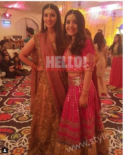 Hareem Farooq at her friend's Wedding (5)
