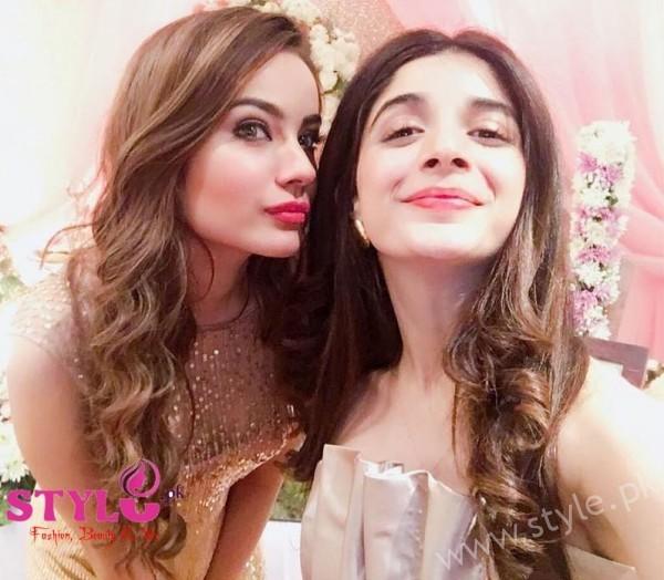 Mawra and Alyzeh Gabol at Urwa's Bridal Shower