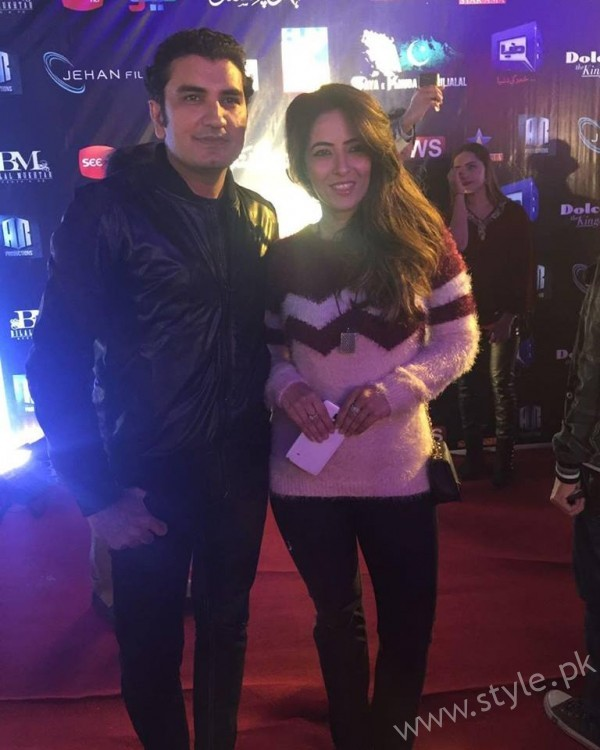 Mehdi & Sarah Jawaid at the premiere of Saya E Khuda E Zuljalal