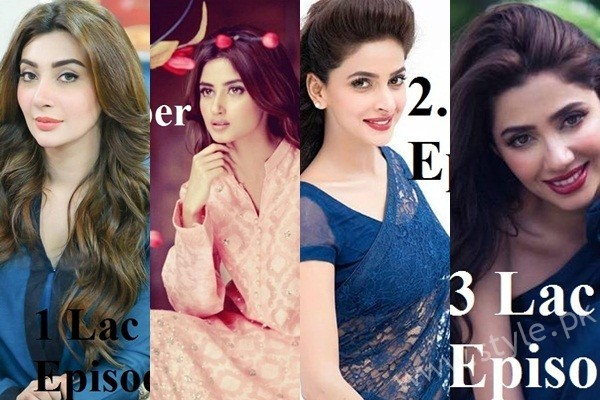 Pays of Top 10 Actresses in 2016(1)