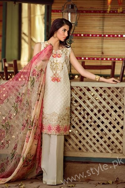 So Kamal Embroidered Chiffon Dresses 2016 - 2017 For Women006