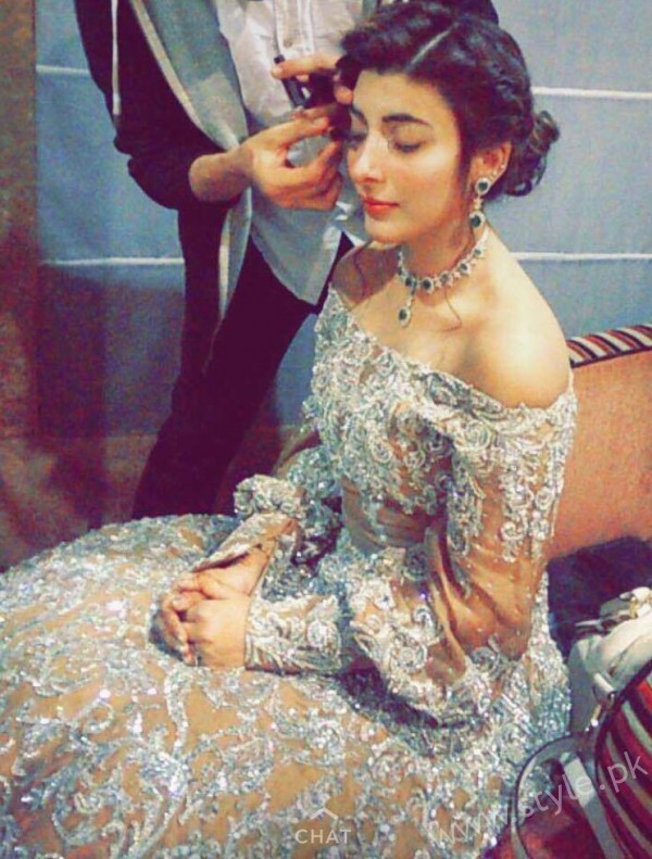 Urwa Hocane Reception Hairstyle