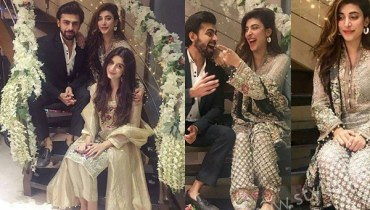 See Urwa Hocane and Farhan Saeed at their first Dholak