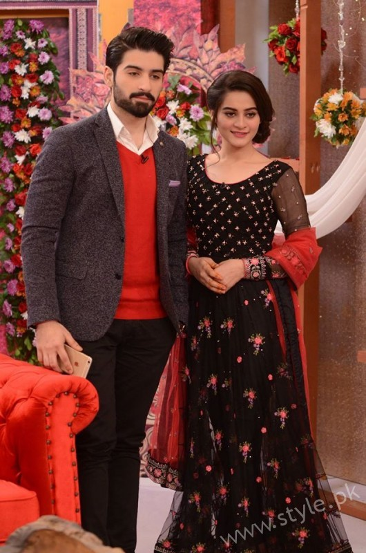 Aiman Khan and Muneeb Butt in Good Morning Pakistan (15)