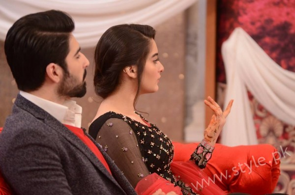 Aiman Khan and Muneeb Butt in Good Morning Pakistan (7)
