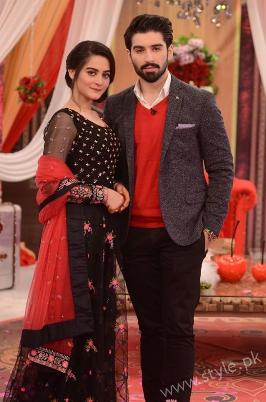 Aiman Khan and Muneeb Butt in Good Morning Pakistan (9)