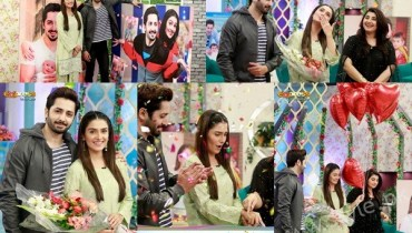 See Ayeza Khan's surprise Birthday Celebration in Morning Show 'Satrungi'