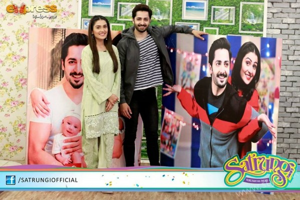 Ayeza Khan's surprise Birthday Celebration in Morning Show 'Satrungi' (31)