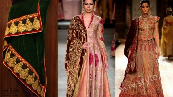 Embroidered velvet shawls are ruling in winters 2017 (11)