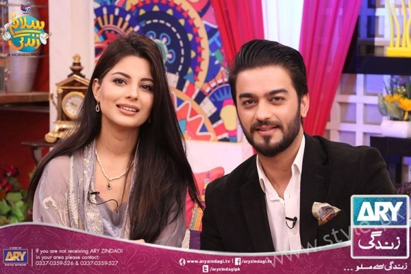 Newly Wed Couple Ahmad Zeb with his wife in Salam Zindagi (22)