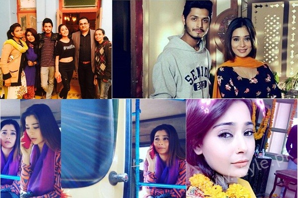 See Pictures of Indian Actress Sara Khan from Set of her drama Laikin