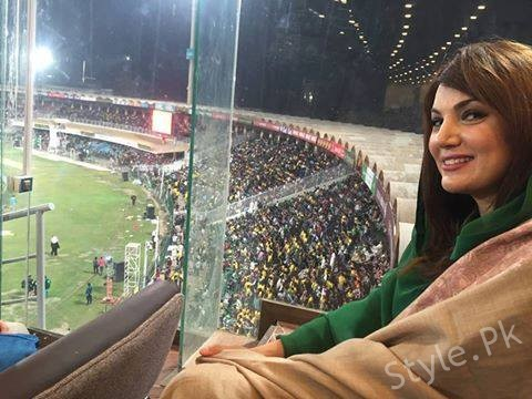 See Reham Khan Enjoying PSL Final Match - Reham Khan pictures