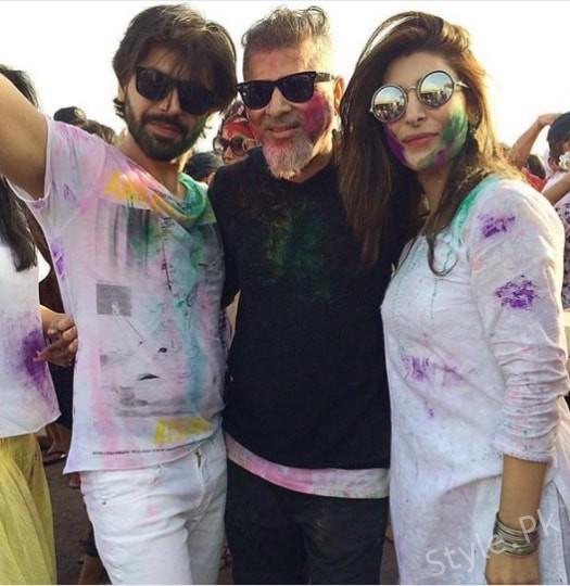 See Urwa Hocane and Farhan Saeed Celebrating Holi - Urwa Farhan Holi Pictures