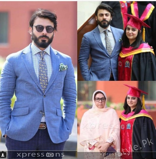 See Fawad Khan with his Sister and Mother at CMH Medical College