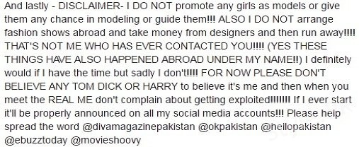 See Nadia Hussain disclosed about Frauds in Modelling Agency