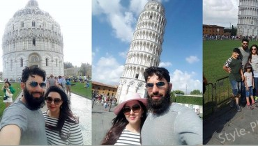 Misbah Ul Haq Spending His Vacations With His Family At Italy
