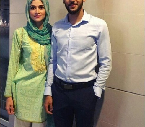 See Arij Fatyma with her Husband to be