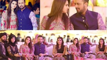 See Atif Aslam with Wife Sara at Zara Shaheen's Mehndi