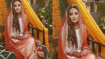 See Beautiful Nadia Khan in Mehndi Outfit