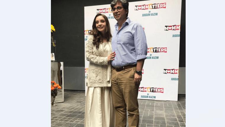 "see Juggun Kazim With Her Husband Faisal At Her Book Launch ""Mom Matters"""